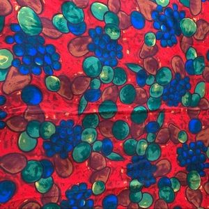Vtg Echo Scarf Fruits Print Made in Italy